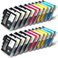 20 XL Compatible Cartouches d'encre pour Brother LC1100 LC980 (8 NOIR + 4 CYAN + 4 MAGENTA + 4 JAUNE) LC1100BK LC1100Y LC1100C LC1100M LC980BK LC980Y LC980C LC980M pour imprimantes Brother MFC-250C MFC-255CW MFC-290C MFC-295CN MFC-297C MFC-490CN MFC-5490CN MFC-5890CN MFC-790CW MFC-795CW MFC-6490CW MFC-6890CDW MFC-990CW DCP-145C DCP-163C DCP-165C DCP-167C DCP-185C DCP-195C DCP-365CN DCP-373CW DCP-375CW DCP-377CW DCP-383C DCP-385C DCP-387C DCP-395CN DCP-585CW DCP-6690CW UNIVERSAL COMPATIBLE FOR LC38 LC61 LC65 LC67 LC980 LC990 LC1100 - Premium Qualité - SilverTrade GmbH (Silvertrade ©)