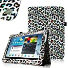 FINTIE (Leopard Rainbow) Slim Fit Folio Case Cover for Samsung Galaxy Note 10.1 inch Tablet N8000 N8010 N8013
