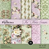 "Papericious Scrapbook & Craft Paper - The Flora Season (12"" By 12"" Paper)"
