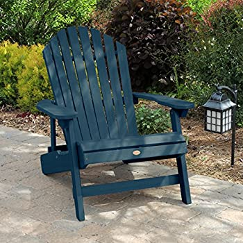 Highwood King Hamilton Folding and Reclining Adirondack Chair, Nantucket Blue