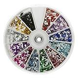 Premium MASH 1200 Piece 12 Color Nail Art Nailart 3D Design Tear Rain Drop Rhinestones