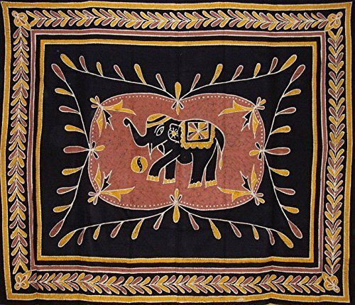Lucky-Batik-Elephant-Tapestry-Wall-Hang-Many-Uses-by-India-Arts