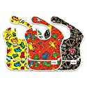 Bumkins Keith Haring Waterproof Superbib, 3 Pack