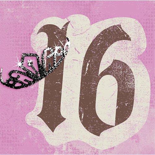 Sweet 16 Beverage Napkins (Pack of 16) - 1