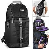 Altura Photo Camera Sling Backpack for DSLR Cameras (Canon Nikon Sony Pentax) + MagicFiber Microfiber Lens Cleaning Cloth