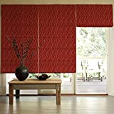 Presto Bazaar Red Jacquard Window Blind (48 Inch X 44 Inch)