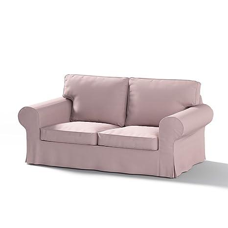 Dekoria Rivestimento per divano letto a 2 posti Ektorp NUOVO modello Rivestimento per divano, adatto al modello Ikea Ektorp, rosa