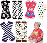 6Pack bebé Girls juDanzy calentadores Lunares, chica búho, cráneos, cebra, y caballo (Baby/Babe/Infant-Little Ones)