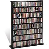 Prepac Black Double Width Wall Media (DVD,CD,Games) Storage Rack