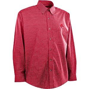 Antigua Mens Boston Red Sox Esteem Cotton Polyester Box Pattern Yarn Dye Stripe by Antigua