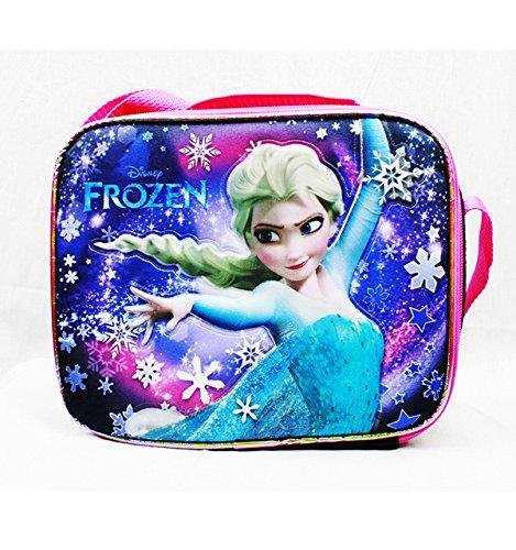 Disney Frozen Insulated Lunch Lunchbox Messenger Bag Strap Anna Elsa - 1