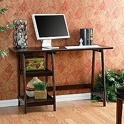 Desk Boys Girls Espresso a Framed Bedroom Brown Family Living Office Wood Corner