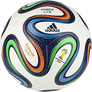 adidas Brazuca Junoir 350 Ballon de foot Enfant White/Night Blue F13/Multicolor Taille 4-5