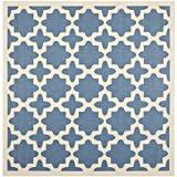 "Safavieh Courtyard Collection CY6913-243 Blue and Beige Square Area Rug, 7 feet 10 inches by 7 feet 10 inches Square (7'10"" x 7'10"" Square)"