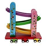 GreenSun TM Trolley Track Kids Children Classic Toys Slippery Car Color Design Environmentally Wooden Toys For Slippery Car (Color: Multicolored, Tamaño: Medium)