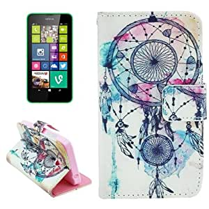 National Style Cap Pattern Leather Case with Holder & Card Slots & Money Pocket for Nokia Lumia 630