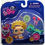 Littlest Pet Shop 2010 Assortment 'B' Series 1 Collectible Figure Cat & Iguana