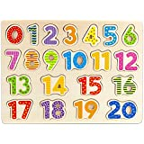 Professor Poplar's Wooden Numbers Puzzle Board by Imagination Generation