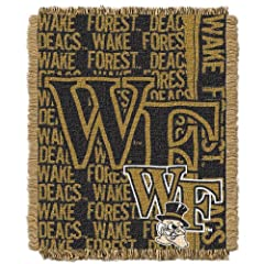 Click here to buy NCAA Wake Forest Demon Deacons 48 x 60-Inch Double Play Jacquard Triple Woven Throw by Northwest.