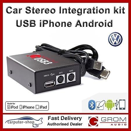Grom Audio Kit d'intégration USB 3.0pour clé USB, iPod/iPhone ou Téléphones Android pour VW 2008et plus tard avec RNS 310, RNS 315, RNS 510, RCD 510stéréo