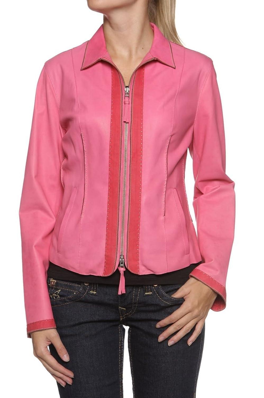 Cristiano di Thiene Damen Jacke Lederjacke GENNA, Farbe: Pink