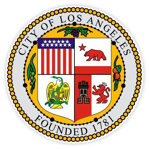 Los Angeles LA city seal California USA sticker decal 4