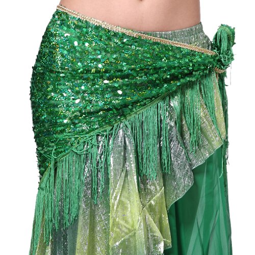 Feimei Women's Belly Dance Hip Scarf with Tassel