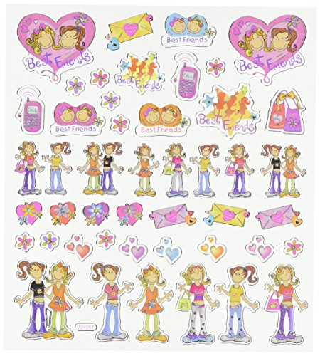 Multi-Colored Stickers-Best Friends - 1