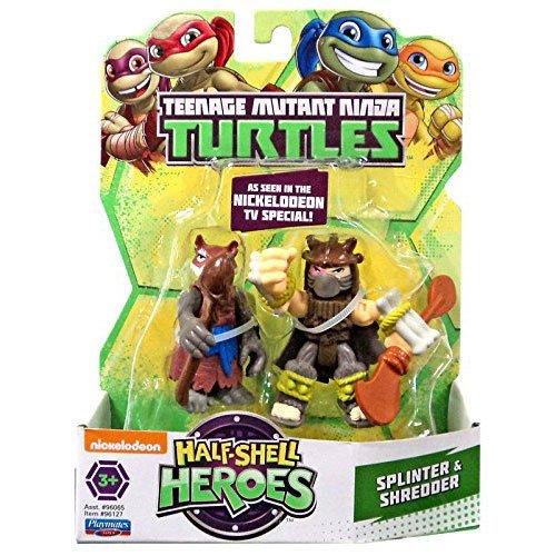 Teenage Mutant Ninja Turtles Pre-Cool Half Shell Heroes Dino Splinter and Dino Shredder Figures (Ninja Turtle Toys Shredder compare prices)