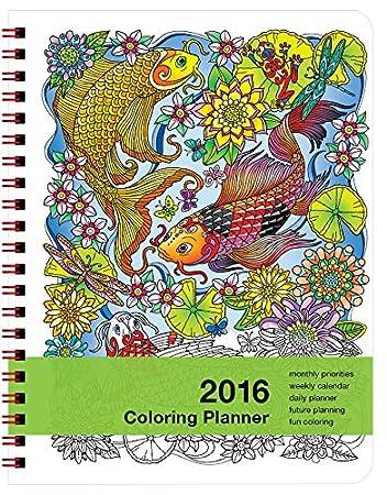 Amazon.com : 2016 Coloring Day Planner (7x8.5 inches) Medium ...