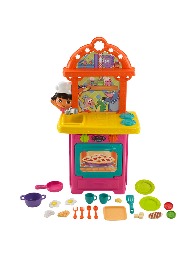 Amazon.com : Dora the Explorer: Sizzling Surprises Kitchen : Toy