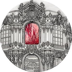 Tiffany Art - Barroco de Dresde $50 1kg Moneda Plata y Cristal - Palaos 2014