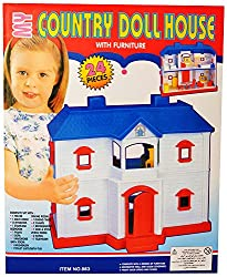 Zest4Toyz My Country Doll House with Furniture in total 24 Pieces to arrange . Kids Fun Game Item