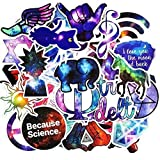Laptop Stickers, Computer Stickers for Car Skateboard Water Bottle Bumper Bike Luggage Waterproof Vinyl Decals Cool Graffiti Stickers Pack (50 Pcs Galaxy Stickers) (Color: 50 Pcs Galaxy Stickers, Tamaño: 2 - 4.5 inch)