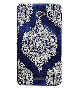 Omnam Old Royal Pattern In Blue Printed Designer Back Cover Case For Sony Xperia E4