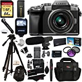 Panasonic DMC-G7KS Digital Single Lens Mirrorless Camera 14-42 mm Lens Kit - 4K + Accessory Bundle + Transcend 64 GB + Polaroid 72