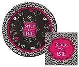 Bridal Bash Lunch Napkins & Dinner Plates Party Kit for 8