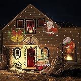 Mabor投影ランププロジェクターライトフィルムセットハロウィンクリスマス飾りライトガーデンライト照明効果イルミネーション電飾