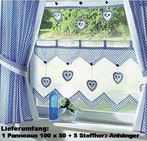 fertigdeko k chen store im landhaus stil gardine panneaux mit 5. Black Bedroom Furniture Sets. Home Design Ideas