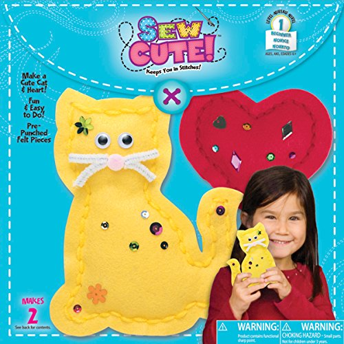 Begin To Sew Kit-Kitten W/Heart