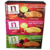 Nairns Oat biscuits,Dark Chocolate,Fruit and Spice and Mixed Berries(3 Packs,1 of each)