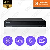 Samsung Wisenet SDR-B84300N2T 8 Channel SuperHD 4MP Security DVR with 2TB Hard Drive