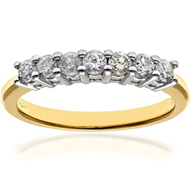 Naava 18 ct Eternity Ring, H/SI Certified Diamonds, Round Brilliant