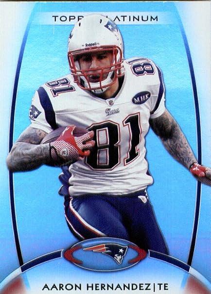 2012 Topps Platinum Football Card # 4 Aaron Hernandez New England Patriots