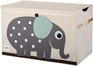 3 Sprouts Elephant Toy Chest Grey