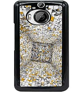 ColourCraft Illusion Design Back Case Cover for HTC ONE M9 PLUS
