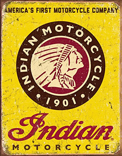 Indian Motorcycles Since 1901 Tin Sign 13 x 16in 0