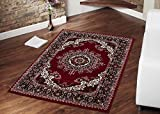 "Red Color Traditional Medallion Design Area Rug (8'2""X9'10"")"