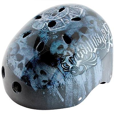 Kids Boys Children Bicycle Cycle Bike BMX Helmet 56 - 60 cm Graffiti Colour: Black-Blue by Relaxdays