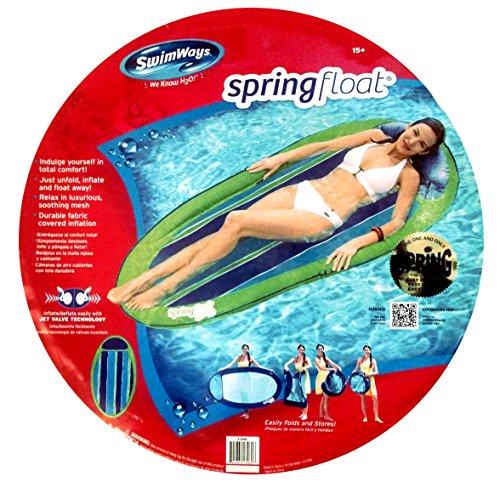 Swimways Pool Spring Float Green / Blue Stripes